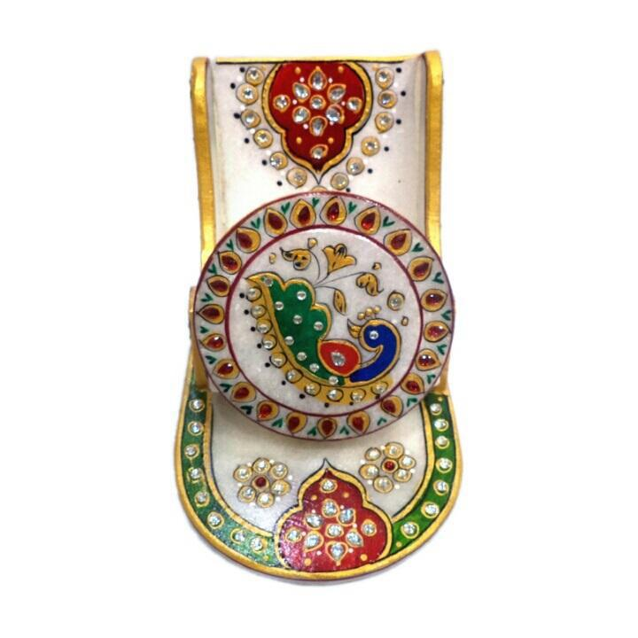 Ethnic Mobile Stand Clock with Meenakari Design