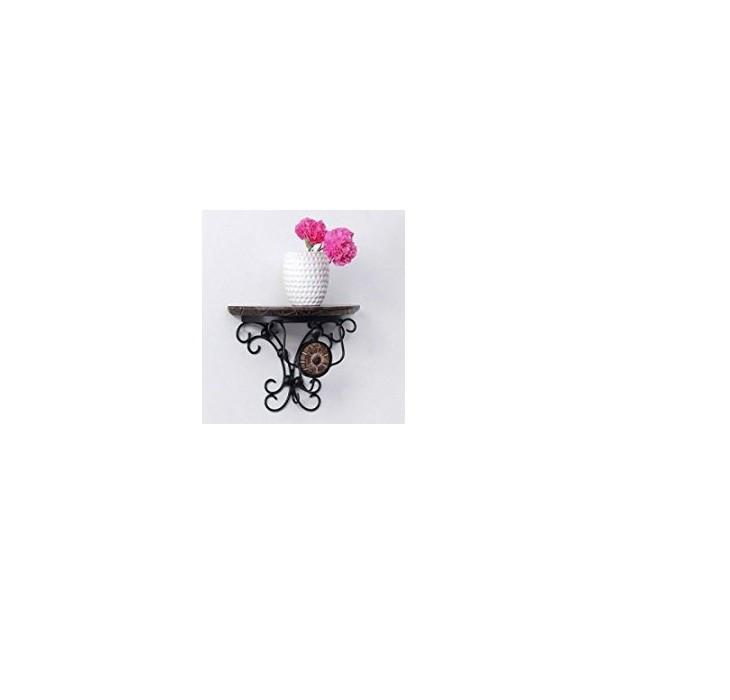 Desi Karigar wood & wrought iron hand carved big wall bracket