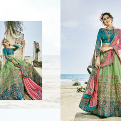 Green & Blue Lehenga Choli