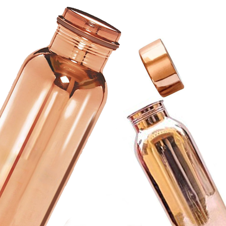 Pure Copper Water Bottle - Set Of 6