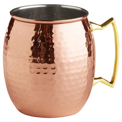 COPPER MOSCOW MULE MUG HAMMERED NICKLE INSIDE
