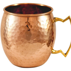 COPPER BARREL MUG HAMMERED