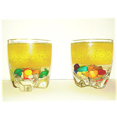 Lemon Yellow Glass Candles