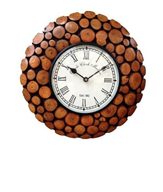 Desi Karigar Wooden Antique Wall Clock