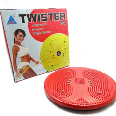 ACUPRESSURE HEALTH CARE SYSTEMS Acupressure Tummy Trimmer Acupressure Twister (Pyramids n Magnets) Useful for Figure Tone-up, Spine Fitness, Abs Trimmings Massager  (Red)