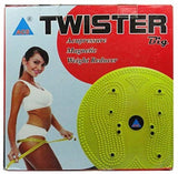 ACUPRESSURE HEALTH CARE SYSTEMS Acupressure Tummy Trimmer Acupressure Twister (Pyramids n Magnets) Useful for Figure Tone-up, Spine Fitness, Abs Trimmings. Massager  (Yellow)
