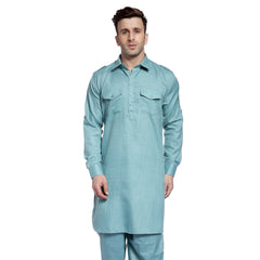 Blue Casual Pathani