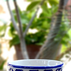 Blue & White Triangle Bowl