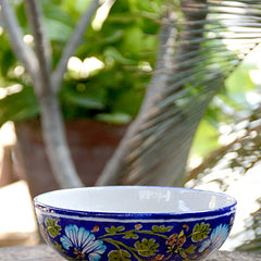 Blue & Green Leaf Bowl