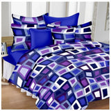 Lali Prints 100% Satin Magic Designer 1 Double Bedsheet With 2 Pillow Covers