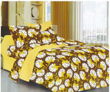 Lali Prints 100% Cotton Soft Floral 1 Double Bedsheet With 2 Pillow Covers