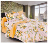 Lali Prints Floral 220 TC 100% Cotton 1 Double Bedsheet With 2 Pillow Covers