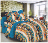 Lali Prints 100% Cotton Printed Print 1 Double Bedsheet With 2 Pillow Covers