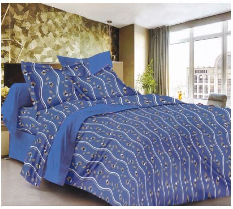 Lali Prints 185TC 100% Cotton Royal Print 1 Double Bedsheet With 2 Pillow Covers