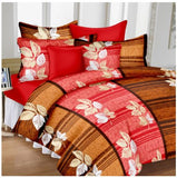 Lali Prints 100% Satin Classic Designer 1 Double Bedsheet With 2 Pillow Covers