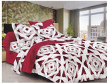 Lali Prints Trendy Colorful 100% Cotton 220 GSM 1 Double Bedsheet With 2 Pillow Covers