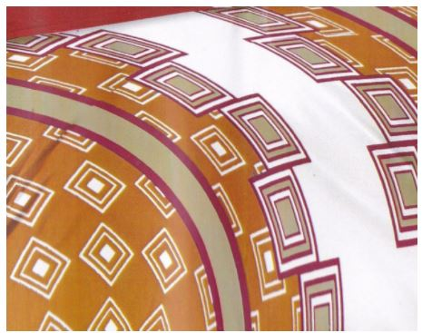 Lali Prints Brown Block Print 100% Cotton 1 Double Bedsheet With 2 Pillow Covers