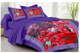 Lali Prints 100% Cotton Scenery Village Art 1 Single Bedsheet With 2 Pillow Covers