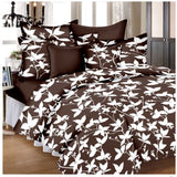 Lali Prints Colorful Leaves 100% Cotton 1 Single Bedsheet With 2 Pillow Covers