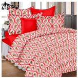 Lali Prints 100% Soft Cotton Designer Floral 1 Single Bedsheet With 2 Pillow Covers