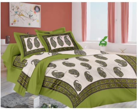 Lali Prints Royal Ethical Print 1 Single Bedsheet With 2 Pillow Covers