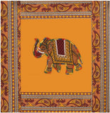 Lali Prints 8 Pcs Elephant Indian Art Print Diwan Set With 5 Cushion And 2 Bolster Covers And 1 Bedsheet
