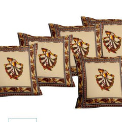 Lali Prints Patch Work Ghumar Dance Print Cushion Cover Set Of 5