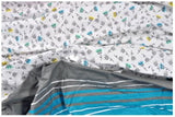 Lali Prints Designer Colorful Print Super King Size 108 X 108 Inch 1 Double Bedsheet With 2 Pillow Covers