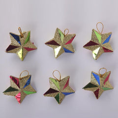 Christmas Decoration Stars hanging ornaments set of 6