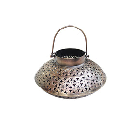 Indian Iron Oval Tealight Candle Holder Handmade Gift Item For Home Decor Pink City Showpiece