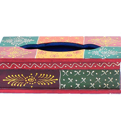 Hand Crafted Indian Wooden Napkin Box Handmade Gift Item For Home Decor Pink City Showpiece