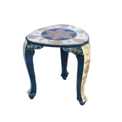 Indian Wooden Simple Stool Handmade Gift Item For Home Decor Pink City Showpiece