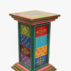 Indian Wooden Side Drawer 3 Handmade Gift Item For Home Decor Pink City Showpiece