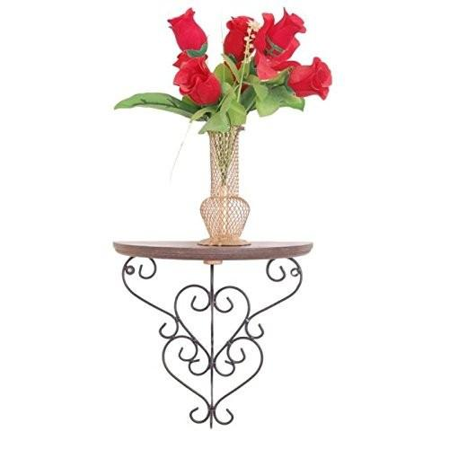 Desi Karigar Wooden & Wrought Iron Big Wall Bracket/Rack