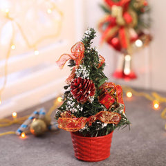 Decorated Artificial Red Christmas Tree Showpiece