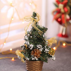 Decorated Artificial Golden Christmas Tree Showpiece