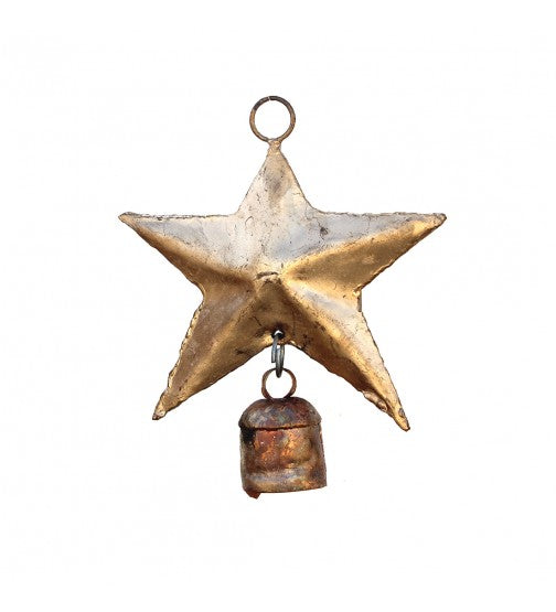 HANDCRAFTED STAR HANGING BELL