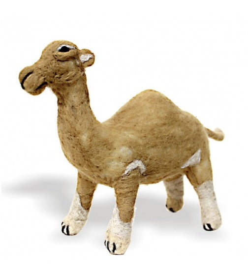 NEEDLE FELTED CAMEL TOY