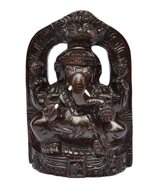 ROSE WOOD CARVED GANESHA