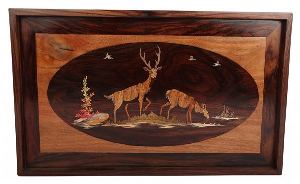 WOOD DEER WALL HANGING
