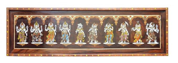 WOODEN DASHAVATARA DECORATE FRAME