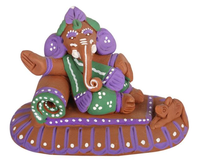 CLAY LYING GANESHA IDOL 1