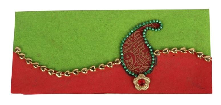INVITATION RED AND GREEN COLOUR ENVELOPES