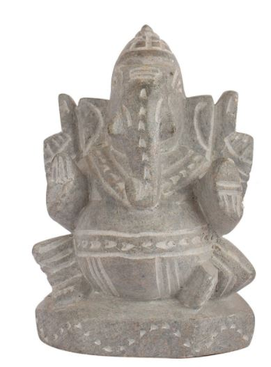 STONE GREY WITH BLACK GANESHA IDOL
