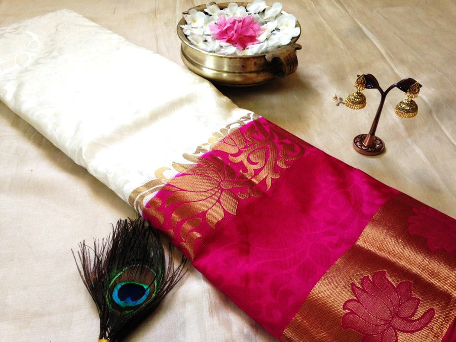 Tussar Silk Saree With Jhumka