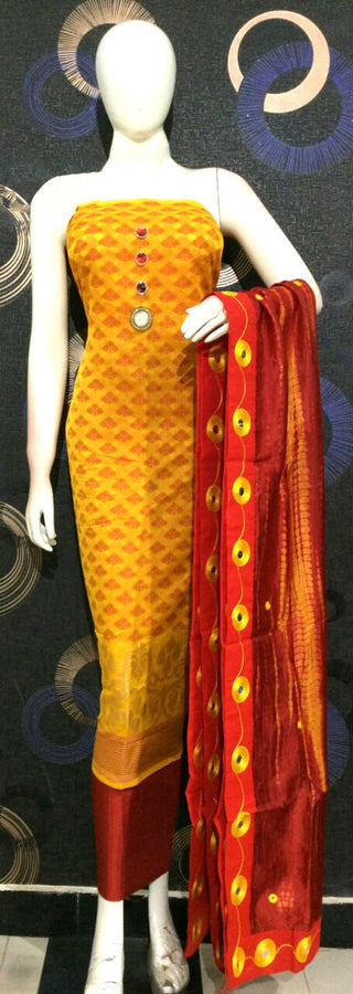 Dress Material With Chanderi Top