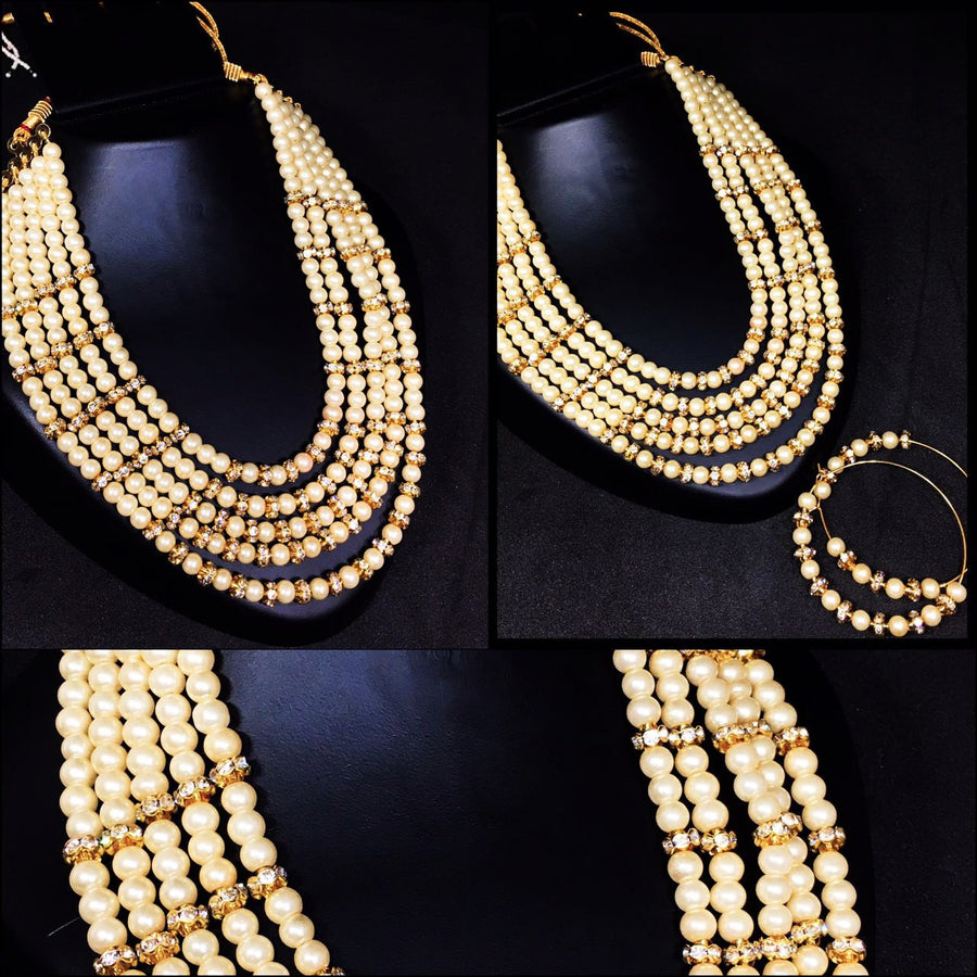 Royal Look Pearl Layered Neckset