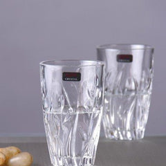 Tableware Serving Crystal Garden Hiball Water Whisky Glass Set, 280ml