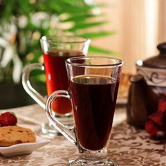 Water Glass Tableware Iris Coffee Mugs Cold Coffee Glass Beer Mug 6Pcs