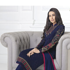 Indian Women Designer Party wear Navy Blue Anarkali Salwar Kameez